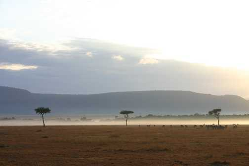 sunrise over masai mara