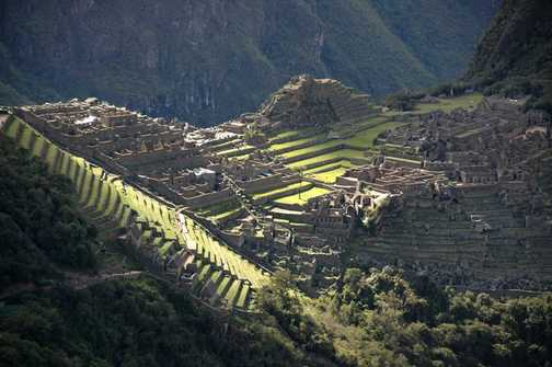 First sight of Machu Picchu