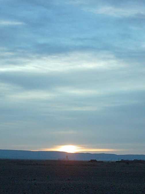sunrise in the Sahara