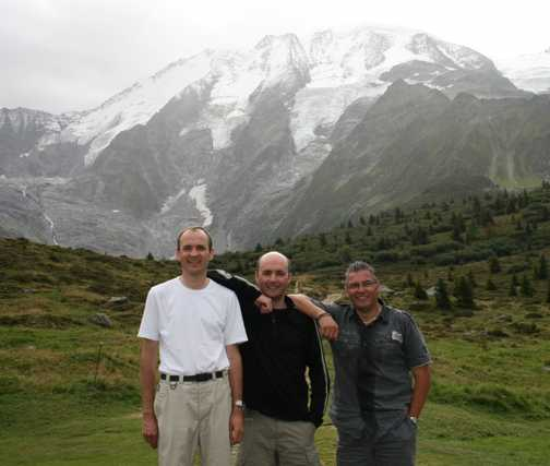 Three men and a mountain