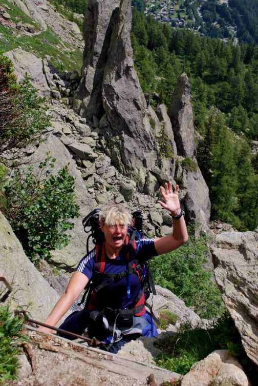 Climbing to Lac Blanc