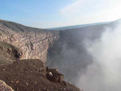 view into volcano