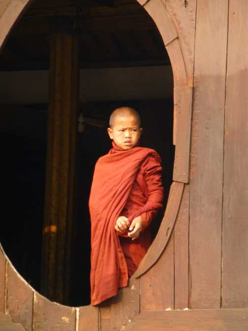 Young monk in a monastery
