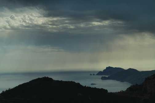 Looking towards Sorrento and Capri