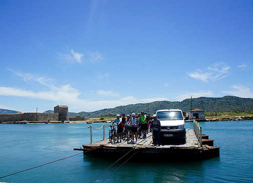 Ferry crossing to Butrint