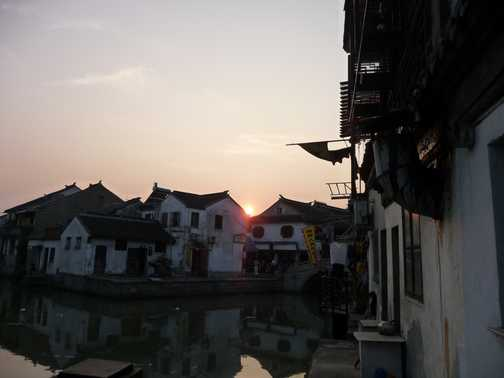 Sunset in Tongli from my terrace