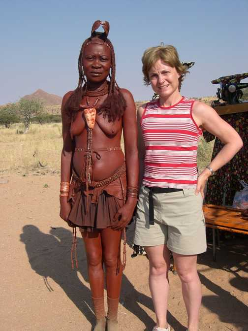 Meeting a Himba lady