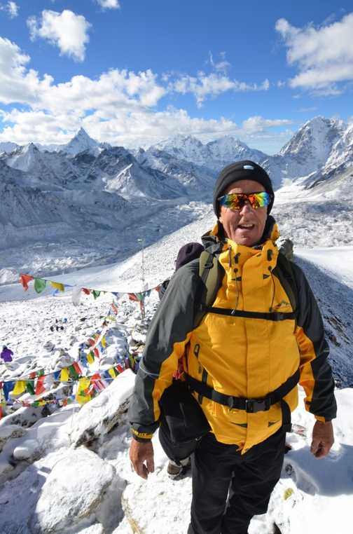 George on Kala patar with Everest behind