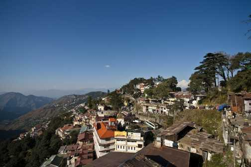 View from my hotel room in Shimla