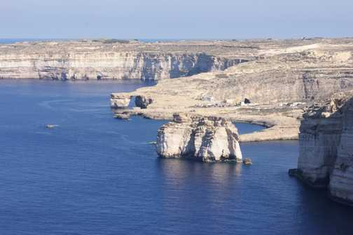 View of Dwerja Bay, Fungus Rock and Azure Window from Wardija Point