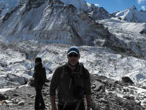 through Kumbu ice fall