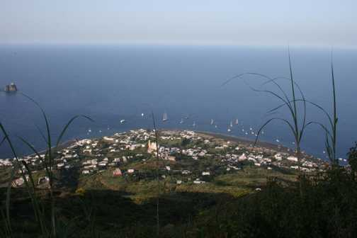Looking down from Stromboli