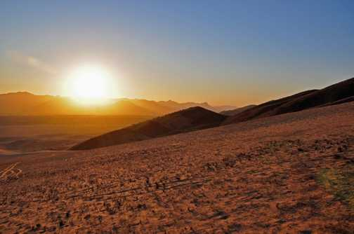 Sunset over the Namib