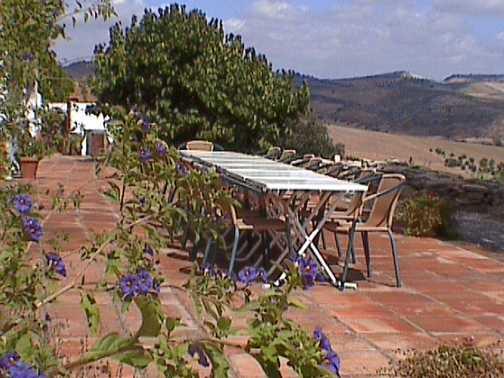 Breakfast view from villa