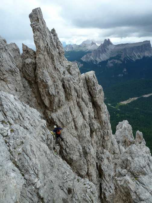 The Punta Anna via ferrata climb
