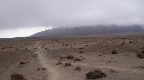 Plateau between Mawenzi and Kibo