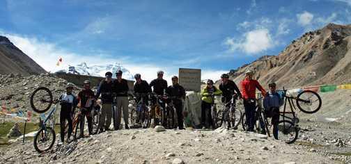Group shot at Everest Base Camp