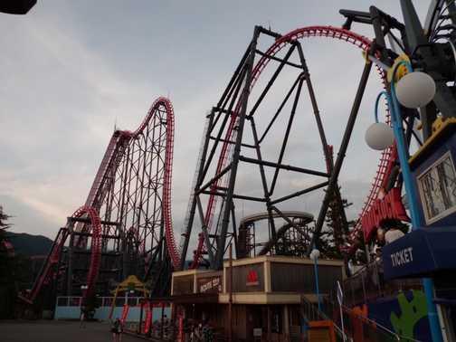 eejanaika roller coaster.  very scary!