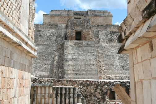 Pyramid of the Magician from the Nunnery, Uxmal