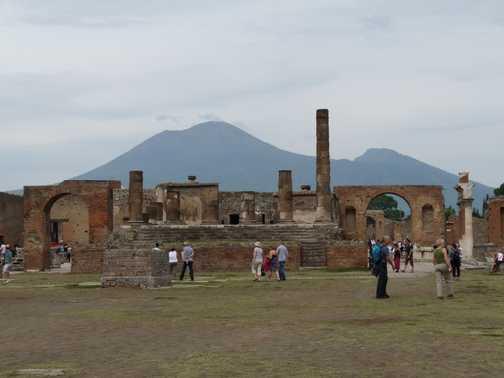Pompei with Vesuvius in background