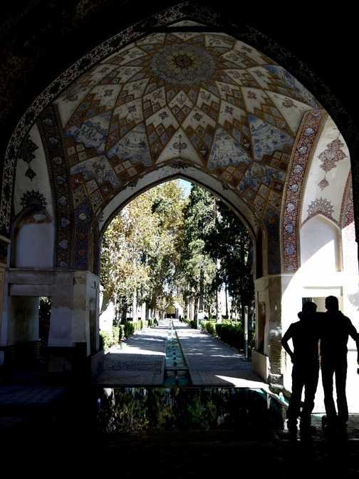 Fountain fun in Fin Garden . . . Kashan.