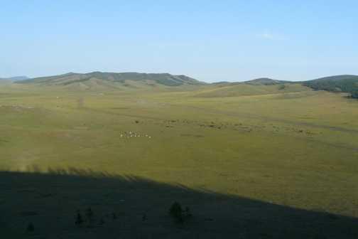 Campsite from top of extinct volcano
