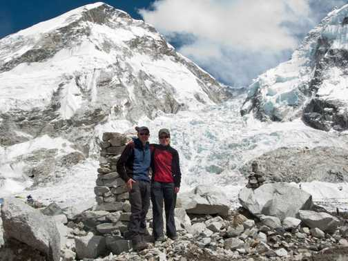 In front of the Khumbu icefall