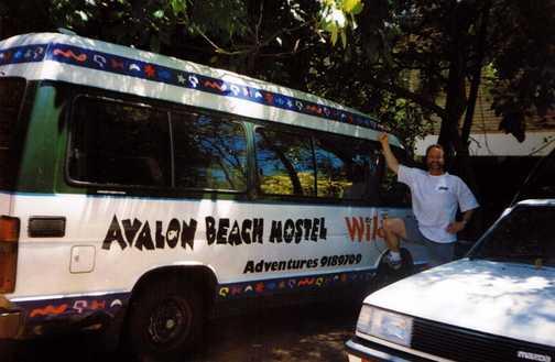 'Uncle' Rob & the Avalon Beach Hostel bus, North Sydney