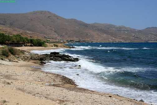end of day 2 beach near Karystos
