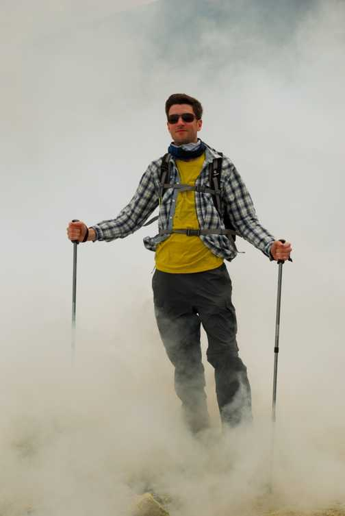 Emerging from the clouds on Vulcano
