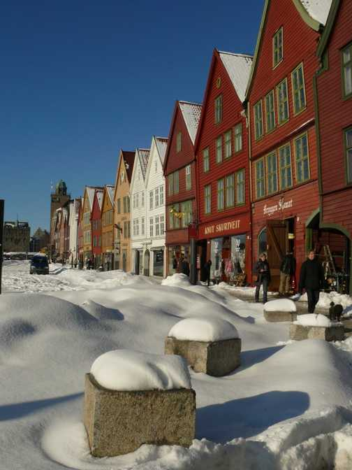 Bergen in heavy snow