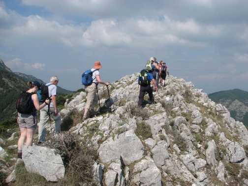 Ridge above Bomerano