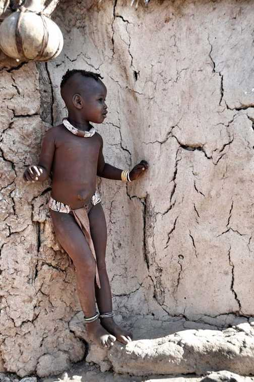 Himba child Namib desert