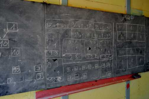 Anyone for maths - School in the Tijhza Valley