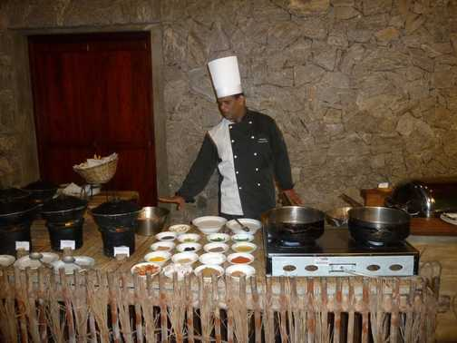 Cooking demo at Sigiriya Hotel
