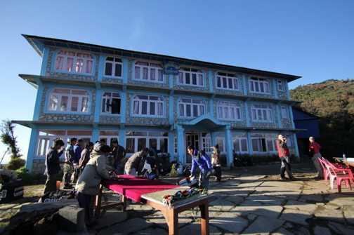 The lodge at Ghorepani