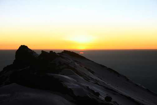 Three level sunrise from Stella POint