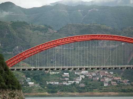 bridge at Wushan, entrance to three gorges