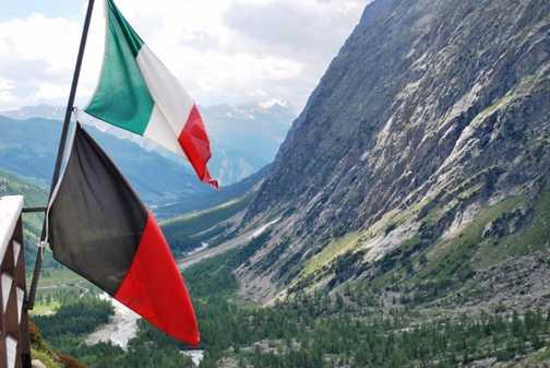 The walk into Italy
