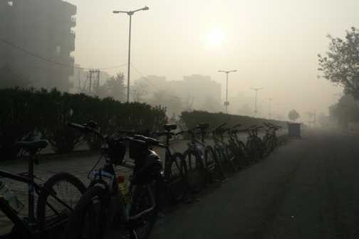 Pre-breakfast ride in Delhi