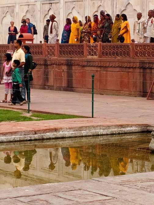 Reflections at the Taj Mahal
