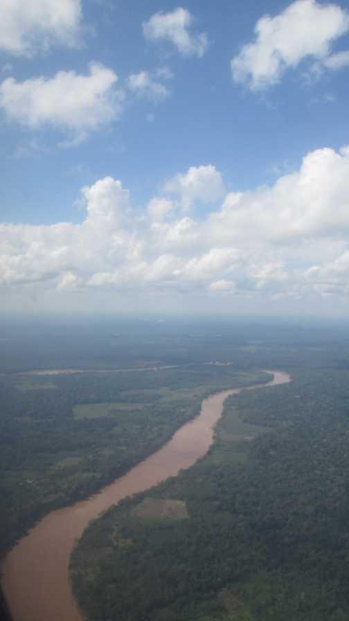 Flying into the Amazon Rainforest