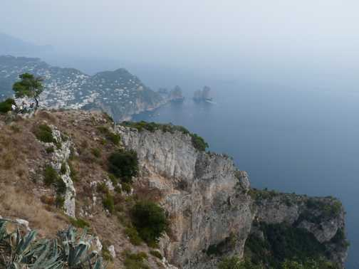 View from top of Capri