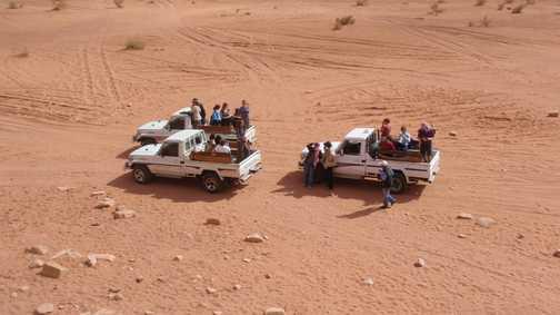 Jeep safari in Wadi Rum