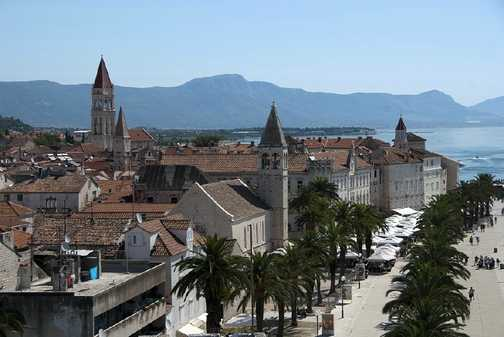 Trogir viewed from the Venetian fort