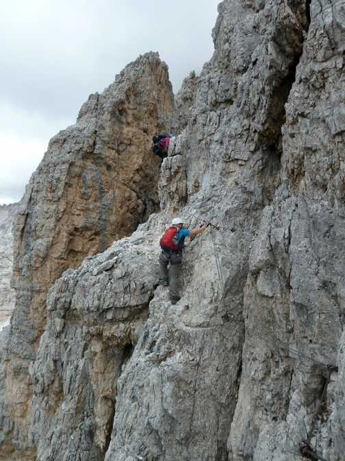 Climbing the Punta Anna via ferrata route