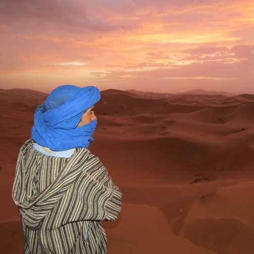 Daybreak in the Sahara