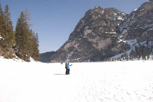 Frozen Lake Walk - groans were heard from the ice!