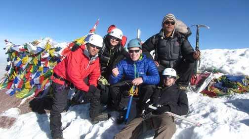 Rope-team summit shot