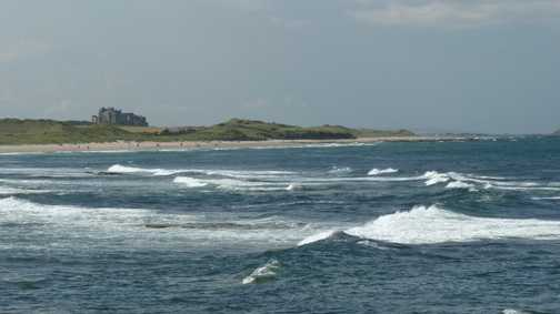 View from Seahouses towards Bamburgh